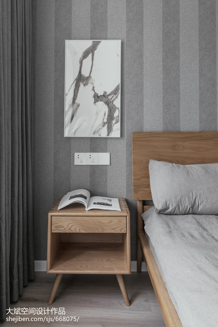 精美77平米二居卧室现代效果图片欣赏卧室