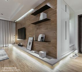 小户型现代背景墙设计效果图