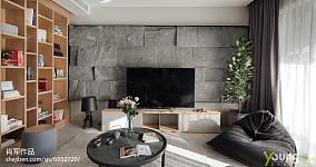 大气160平现代三居客厅实拍图