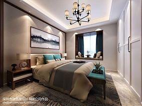 2018面积112平中式四居卧室装修图片大全