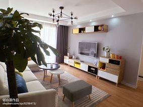 精美90平米三居客厅北欧实景图片欣赏