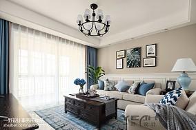 美式小三居客厅设计图