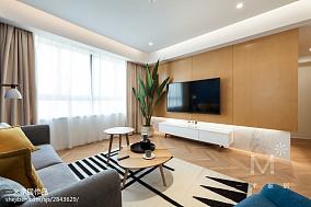 93平米三居客厅北欧装修设计效果图家装装修案例效果图