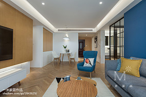 面积90平北欧三居客厅装修图片大全家装装修案例效果图