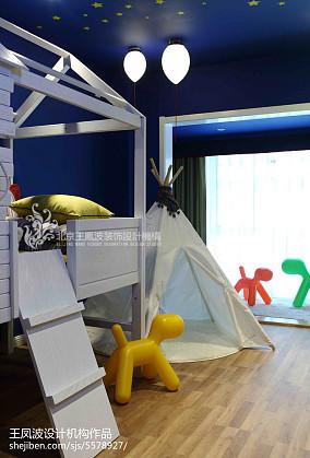 宜家风格儿童房上下铺装修效果图片