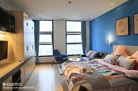 2018面积90平小户型卧室北欧装修设计效果图