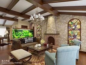 精选128平米美式复式休闲区装修欣赏图片大全