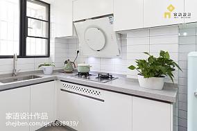 2018精选面积74平小户型厨房日式装饰图