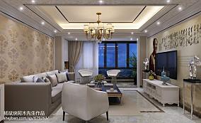 精选面积90平简欧三居客厅装修欣赏图