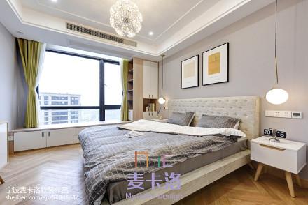 2018面积106平北欧三居卧室效果图片卧室