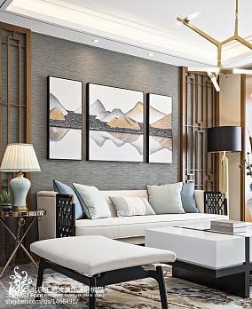 精美面积112平别墅客厅中式装修效果图别墅豪宅中式现代家装装修案例效果图