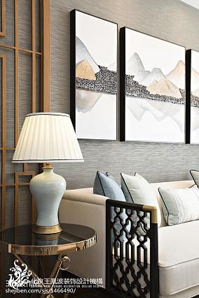 精美121平米中式别墅客厅实景图片别墅豪宅中式现代家装装修案例效果图