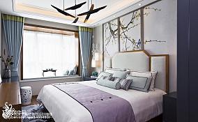 2018大小139平别墅卧室中式装修设计效果图片欣赏别墅豪宅中式现代家装装修案例效果图