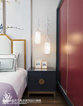 2018面积143平别墅卧室中式装修实景图片欣赏别墅豪宅中式现代家装装修案例效果图