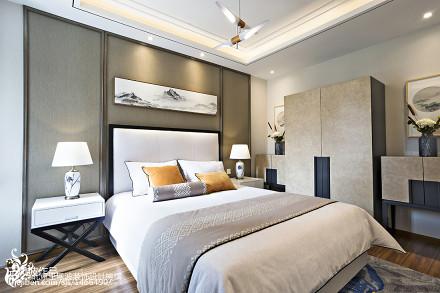热门面积132平别墅卧室中式实景图片大全卧室