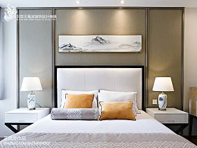 111平米中式别墅卧室装修欣赏图片大全别墅豪宅中式现代家装装修案例效果图