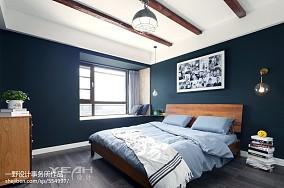 宽敞北欧风三居卧室设计图卧室1图北欧极简设计图片赏析