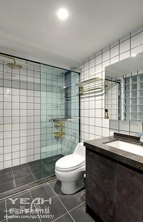 宽敞北欧风三居卫浴设计图卫生间北欧极简设计图片赏析