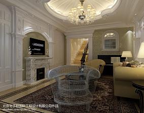 2018精选123平米新古典别墅客厅装修效果图片