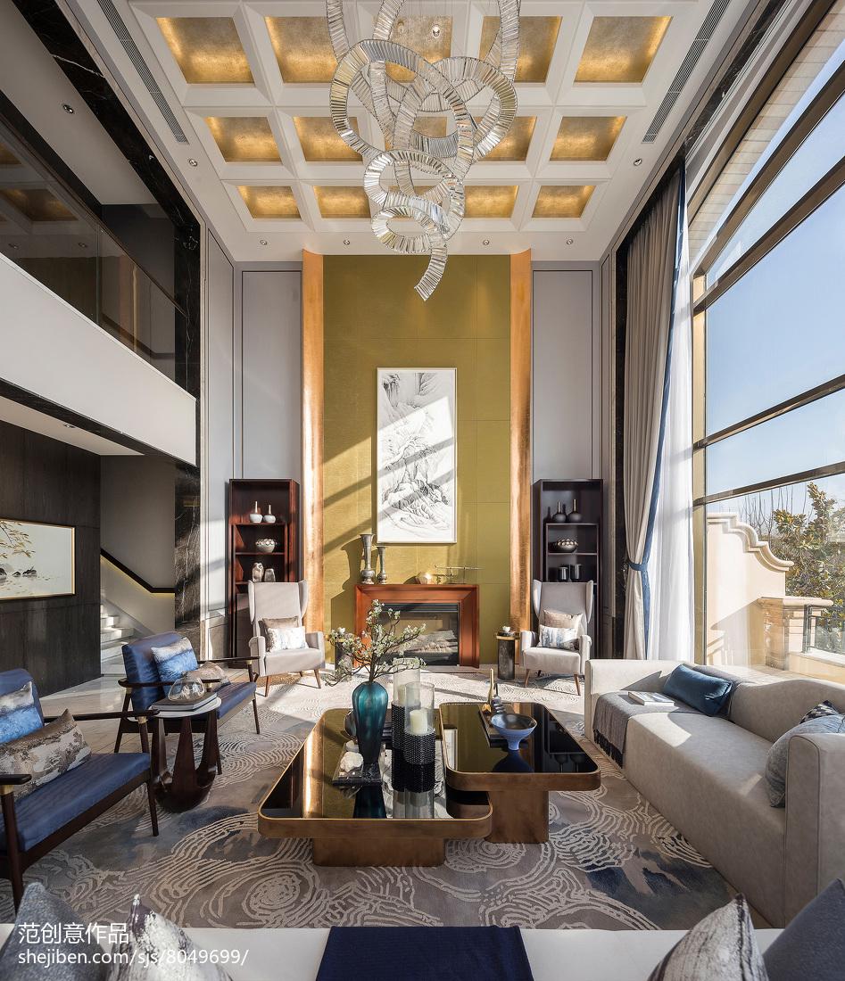 质朴298平混搭别墅客厅设计美图客厅