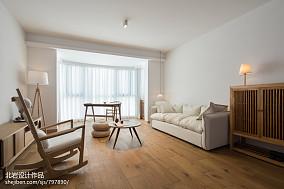 面积98平日式三居客厅实景图
