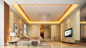 精美面积135平别墅客厅简约装修图片