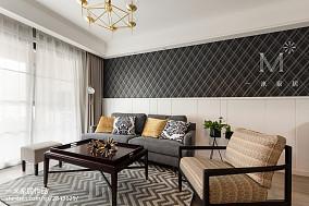 大气105平美式三居客厅装修设计图三居美式经典家装装修案例效果图