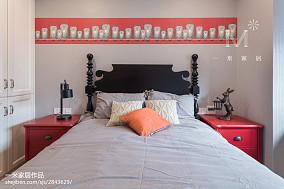2018精选91平米三居儿童房美式装修图片大全三居美式经典家装装修案例效果图