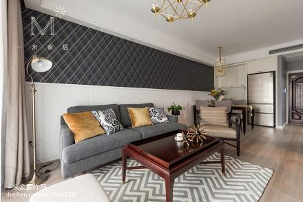 轻奢112平美式三居客厅设计图