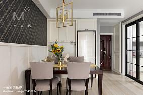 温馨120平美式三居装修设计图三居美式经典家装装修案例效果图