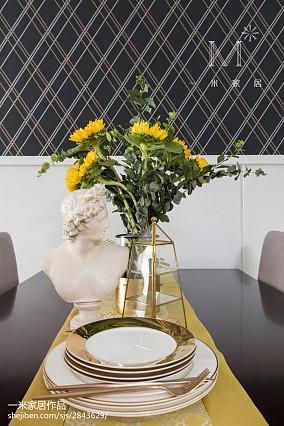 平米三居餐厅美式装修图片大全三居美式经典家装装修案例效果图