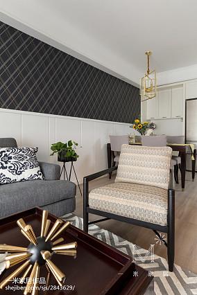 热门大小98平美式三居客厅效果图片欣赏三居美式经典家装装修案例效果图