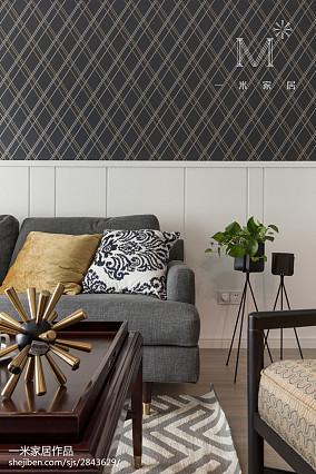 精选94平米三居客厅美式装修效果图三居美式经典家装装修案例效果图