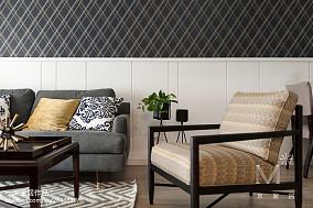 2018面积109平美式三居客厅实景图片三居美式经典家装装修案例效果图
