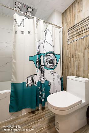 热门面积100平美式三居卫生间装饰图片三居美式经典家装装修案例效果图