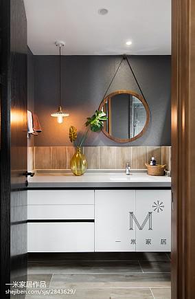 精美111平米北欧复式卫生间装修设计效果图片欣赏复式北欧极简家装装修案例效果图