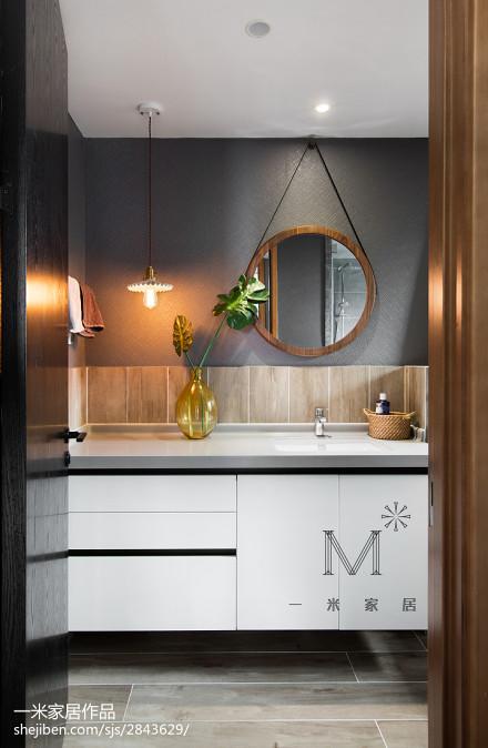 精美111平米北欧复式卫生间装修设计效果图片欣赏