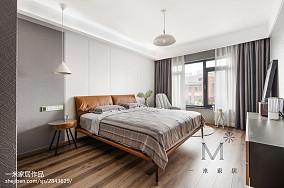 热门复式卧室北欧装修效果图复式北欧极简家装装修案例效果图