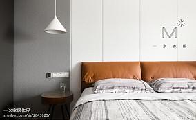 热门面积141平复式卧室北欧装修效果图片复式北欧极简家装装修案例效果图