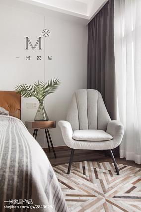 面积137平复式卧室北欧装修效果图片复式北欧极简家装装修案例效果图