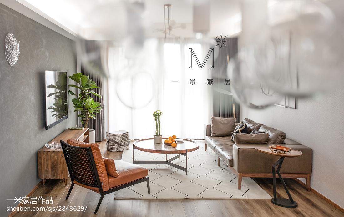 面积128平复式客厅北欧实景图片复式北欧极简家装装修案例效果图