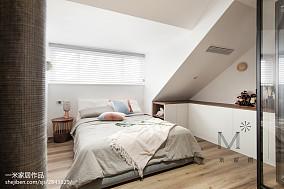明亮70平北欧复式卧室设计案例复式北欧极简家装装修案例效果图