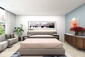 精选面积135平别墅卧室现代设计效果图