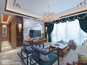 2018精选面积135平中式四居客厅效果图片