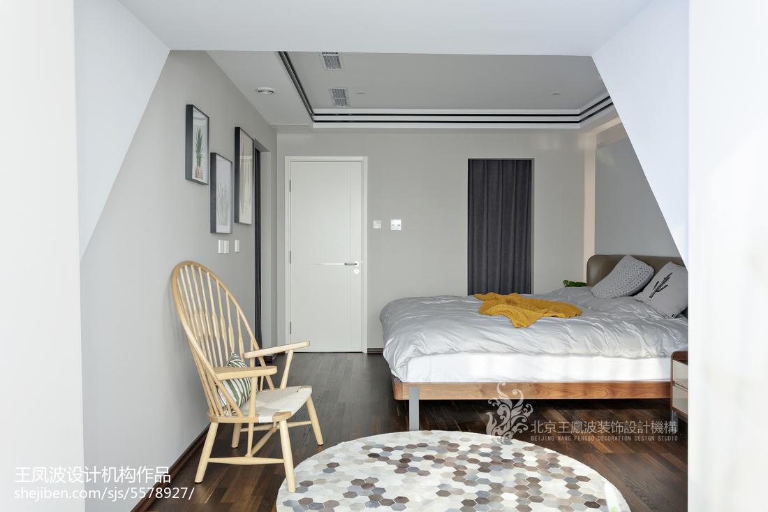 精美91平方三居卧室现代装修实景图卧室