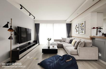 典雅58平北欧二居装修装饰图