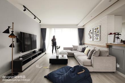 质朴72平北欧二居客厅装饰图