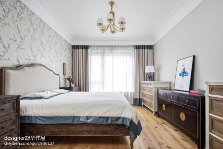 平米四居卧室美式装修欣赏图片大全卧室