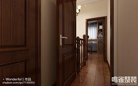 简欧式别墅卧室隔断效果图
