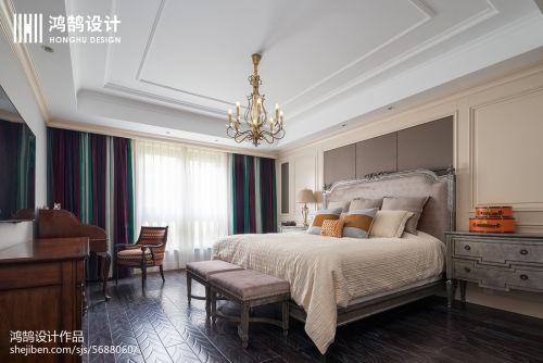 2018精选大小132平美式四居卧室装饰图片客厅窗帘1图